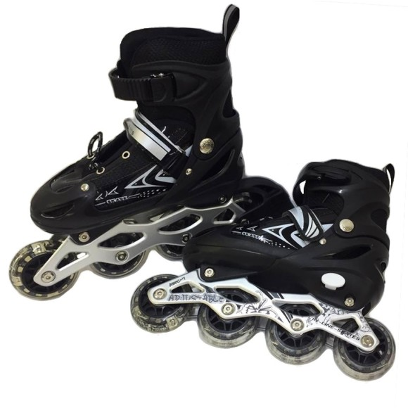 PATINS ROLLER C/ REGULAGEM PRETO 34-38 4119